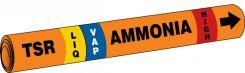 - IIAR Snap Tite™ Ammonia Pipe Marker: TSR/LIQ/VAP/HIGH