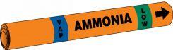 - IIAR Snap Tite™ Ammonia Pipe Marker: (blank)/VAP/LOW