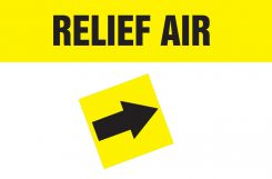 - Duct Marker: Relief Air