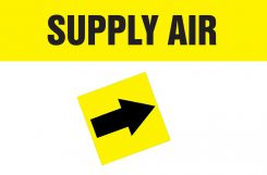 - Duct Marker: Supply Air