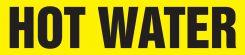 - ASME (ANSI) Pipe Marker: Hot Water