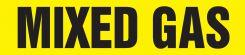- ASME (ANSI) Pipe Marker: Mixed Gas
