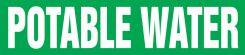 - ASME (ANSI) Pipe Marker: Potable Water