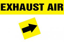 - Duct Marker: Exhaust Air