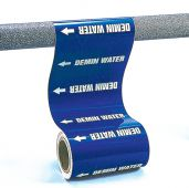 - Roll Form Pipe Marker: Chilled Water Return