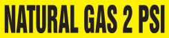 - Medical Gas Pipe Marker: Natural Gas 2 PSI