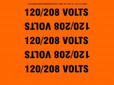 - Conduit and Cable Electrical Pipemarker: 120/208 Volts