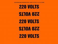 - Conduit Voltage Marker: 220 Volts