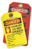 - OSHA Danger Safety Custom Plastic Tags: Hands Off Do Not Operate