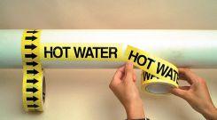 - Roll Tape Pipe Marker: Sprinkler Water