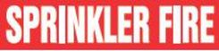 - Roll Tape Pipe Marker: Sprinkler Fire