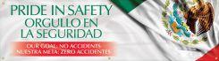 - Safety Motivational Banners: PRIDE IN SAFETY, ORGULLO EN LA SEGURIDAD