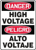 - Bilingual Contractor Preferred OSHA Danger Safety Sign: High Voltage