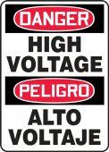 - Bilingual Contractor Preferred OSHA Danger Corrugated Plastic Sign: High Voltage