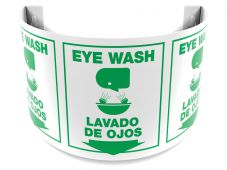 - Bilingual 180D Projection™ Sign: Eye Wash/Lavado De Ojos