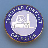 - Safety Recognition Badge: Certified Forklift Operator