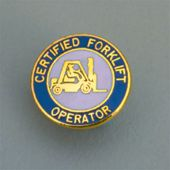 - Safety Recognition Badge: Certified Forklift Operator (5/8 inch)