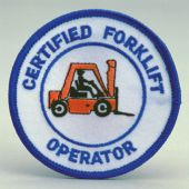 - Safety Recognition Patch: Certified Forklift Operator