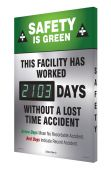 - Digi-Day® 3 Electronic Safety Scoreboards: Safety Is Green This Facility Has Worked ___ Days Without A Lost Time Accident