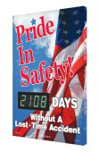 - Digi-Day® 3 Electronic Safety Scoreboards: Pride In Safety __Days Without A Lost Time Accident