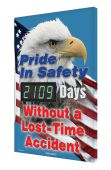 - Digi-Day® 3 Electronic Safety Scoreboards: Pride In Safety - _Days Without a Lost Time Accident