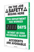 - Digi-Day® 3 Electronic Scoreboards: This Department Has Worked _Days Without An OSHA Recordable Injury