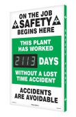 - Digi-Day® 3 Electronic Safety Scoreboards: This Plant Has Worked _Days Without A Lost Time Accident