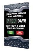 - Semi-Custom Digi-Day® 3 Electronic Safety Scoreboards: (name) Has Worked _ Days Without A Lost Time Accident