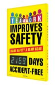 - Digi-Day® 3 Electronic Safety Scoreboards: Teamwork Improve Safety - Make Safety A Team Goal