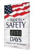 - Digi-Day® 3 Electronic Safety Scoreboards: Pride In Safety _ Days Without A Lost Time Accident