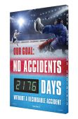 - Digi-Day® 3 Electronic Safety Scoreboards: Our Goal - No Accidents _ Days Without A Recordable Injury