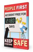 - The Simpsons™ Digi-Day® 3 Electronic Safety Scoreboard: People First Accident Free For ___ Days Keep Everyone Safe