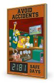 - The Simpsons™ Digi-Day® 3 Electronic Safety Scoreboard: Avoid Accidents ___ Safe Days