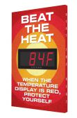 - Heat Stress Signs: Beat The Heat - Display Is Red - Protect Yourself