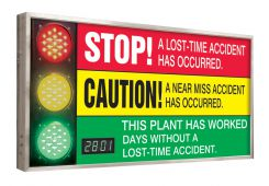 - Digi-Day® 3 Electronic Signal Scoreboards:This Plant Has Worked _ Days Without A Lost Time Accident