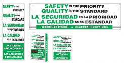- Bilingual Safety Campaign Kits: Safety Is The Priority - Quality Is The Standard