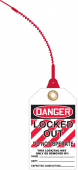 - Loop 'n Lock™ Tie Tag OSHA Danger Safety Tag: Locked Out - Do Not Operate