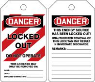 - Mini OSHA Danger Safety Tag: Locked Out