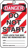 - OSHA Danger Safety Tag: Do Not Start - Dual Sided