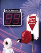 - TAKE-A-NUMBER QUEUE SYSTEM STAND