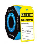 - OSHA Caution Tags By-The-Roll: Barricade Tag