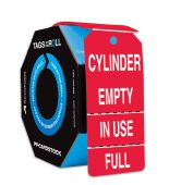 - Perforated Tags By-The-Roll: Cylinder Empty - In Use - Full