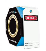 - OSHA Danger Tags By-The-Roll With Grommets: (Blank)