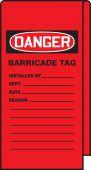 - Wrap N' Stick™ Danger Tag: Barricade Tag