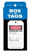 - Box of Tags: Barricade Tag