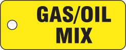 - Safety Tag: Gas/Oil Mix