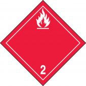 - TDG Shipping Labels: Hazard Class 2: Flammable