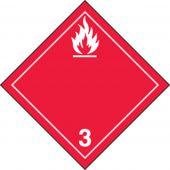 - TDG Hazard Class 3 Shipping Label: Flammable