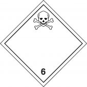 - TDG Shipping Labels: Hazard Class 6: Toxic