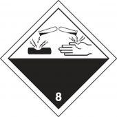 - TDG Shipping Labels: Hazard Class 8: Corrosive